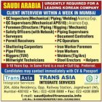 client interview for gulf jobs in mumbai