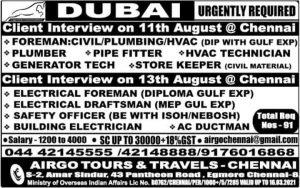 GULF JOBS FOR INDIANS गल्फ जॉब्स फॉर