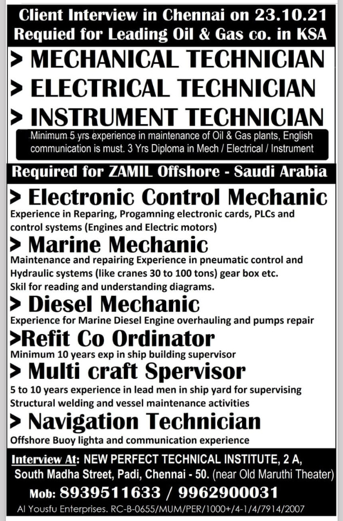 REQUIREMENT FOR KSA