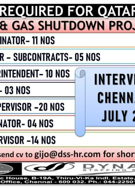 REQUIREMENT FOR OIL & GAS SHUTDOWN PROJECT