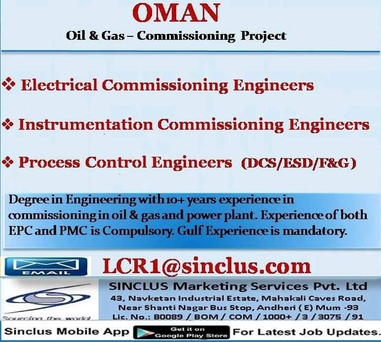 REQUIREMENT FOR COMMISSIONING PROJECT