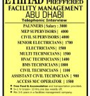 URGENTLY REQUIRED FOR FACILITY MANAGEMENT