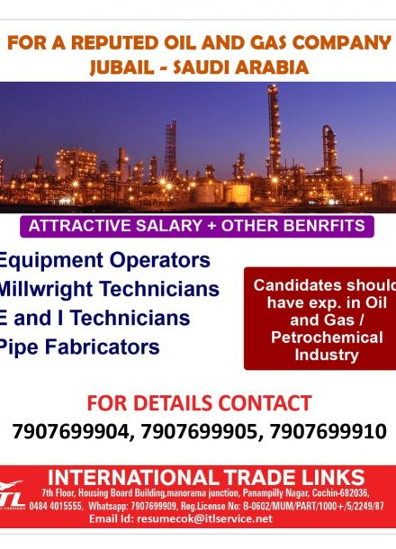 REQUIRED FOR A REPUTED OIL & GAS COMPANY