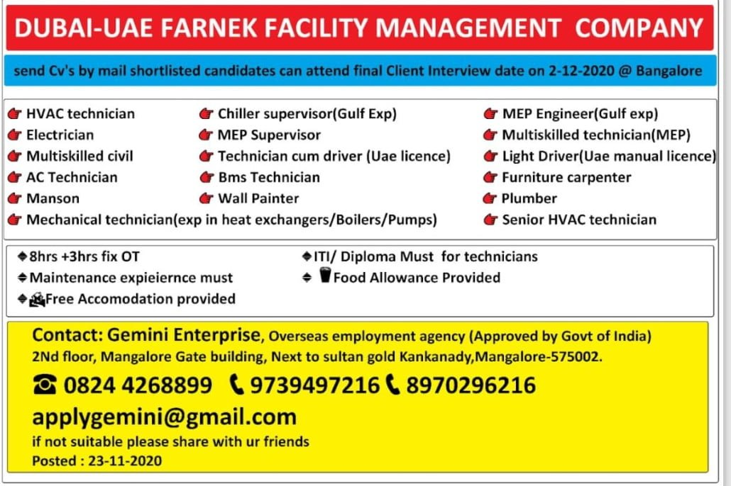 FARNEK FACILITY MANAGEMENT COMPANY-DUBAI