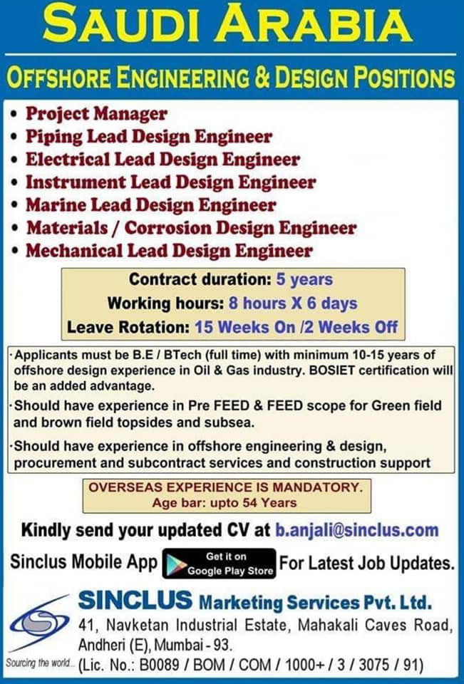 JOBS AT GULF SINCLUS CONSULTANCY September 5, 2019 JOBS AT
