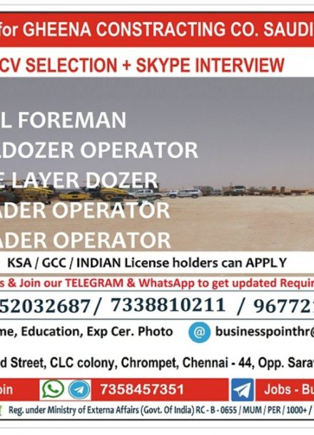 REQUIRED FOR GHEENA CONSTRACTING COMPANY