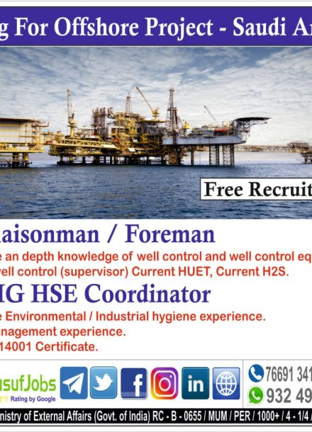 HIRING FOR OFFSHORE PROJECT