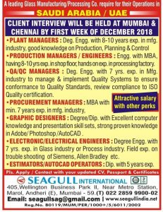 Client Interview In Mumbai for gulf 2018