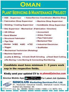 www.sinclus.com mumbai gulf jobs