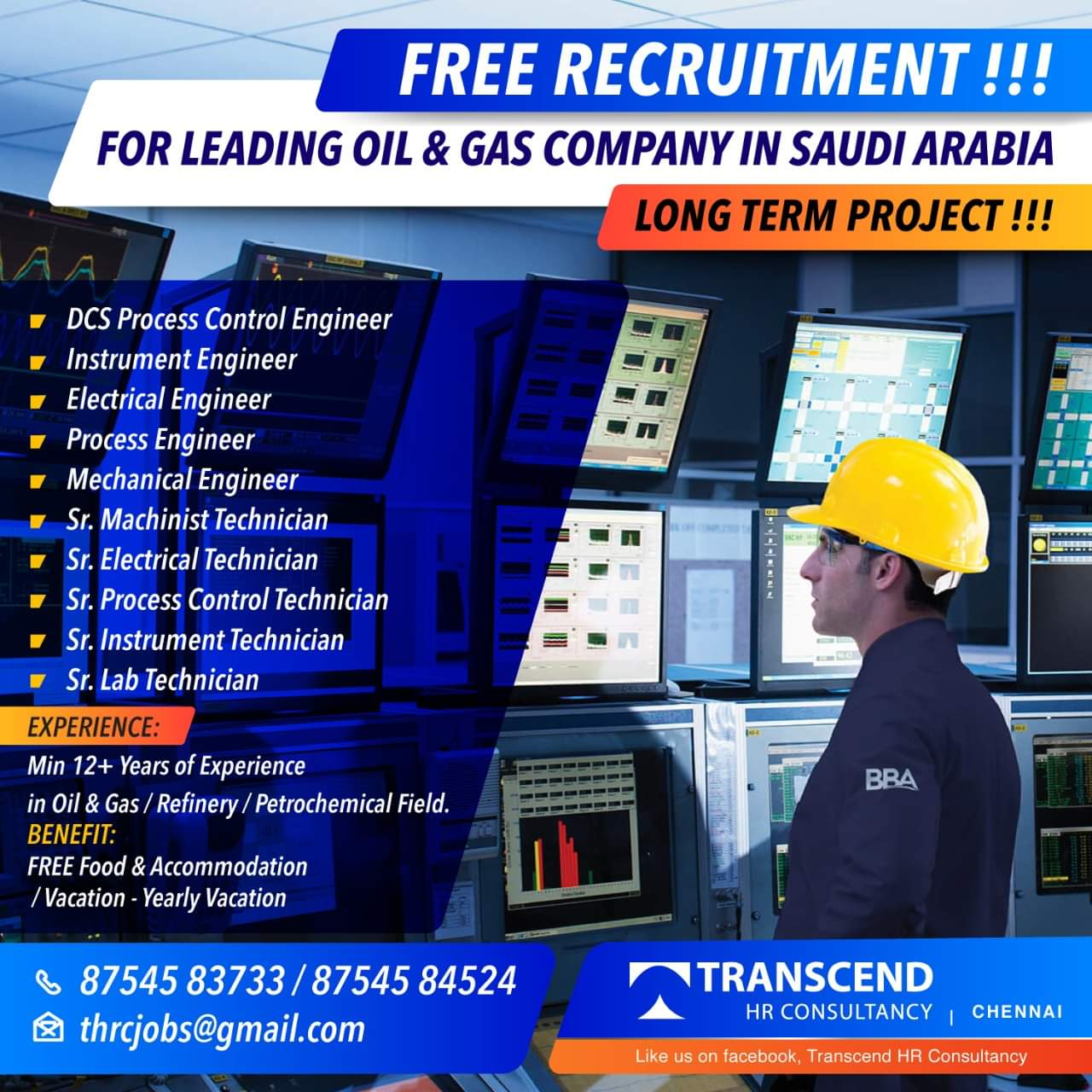 LEADING OIL AND GAS COMPANY IN SAUDI ARABIA A LONG TERM PROJECT