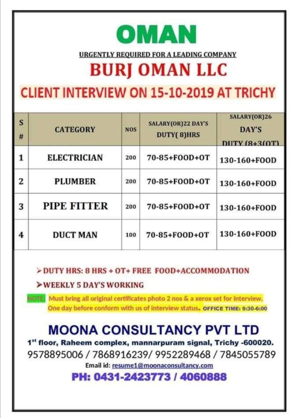 BURJ OMAN LLC