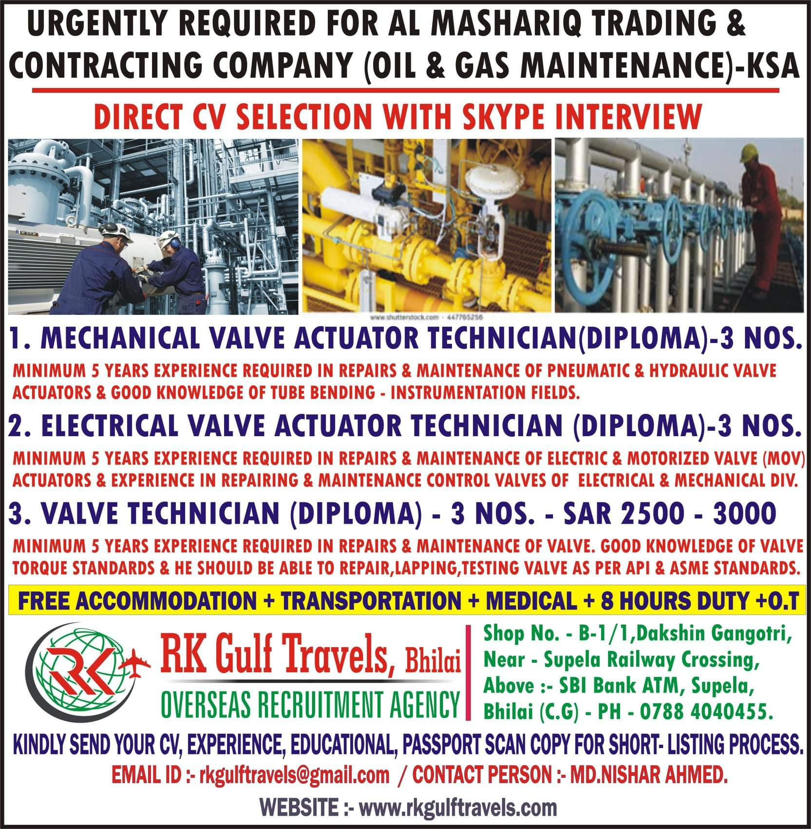 AL MASHARIQ TRADING AND CONTRACTING COMPANY ( OIL AND GAS MAINTENANCE)-KSA