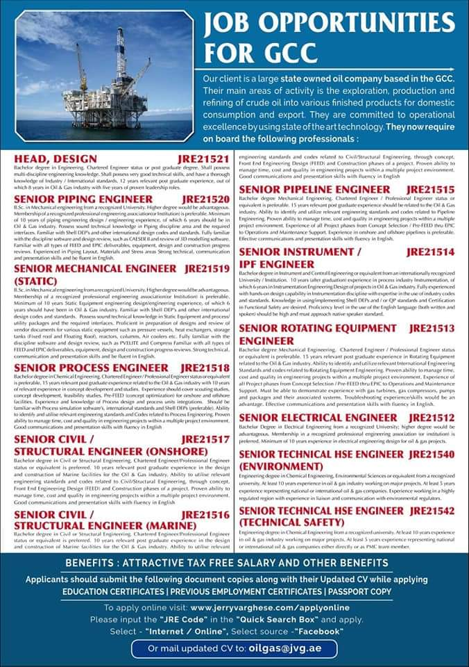 JOB OPPORTUNITIES FOR GCC