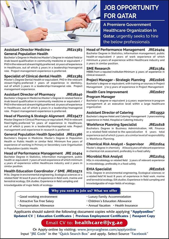 JOB OPPORTUNITIES FOR QATAR