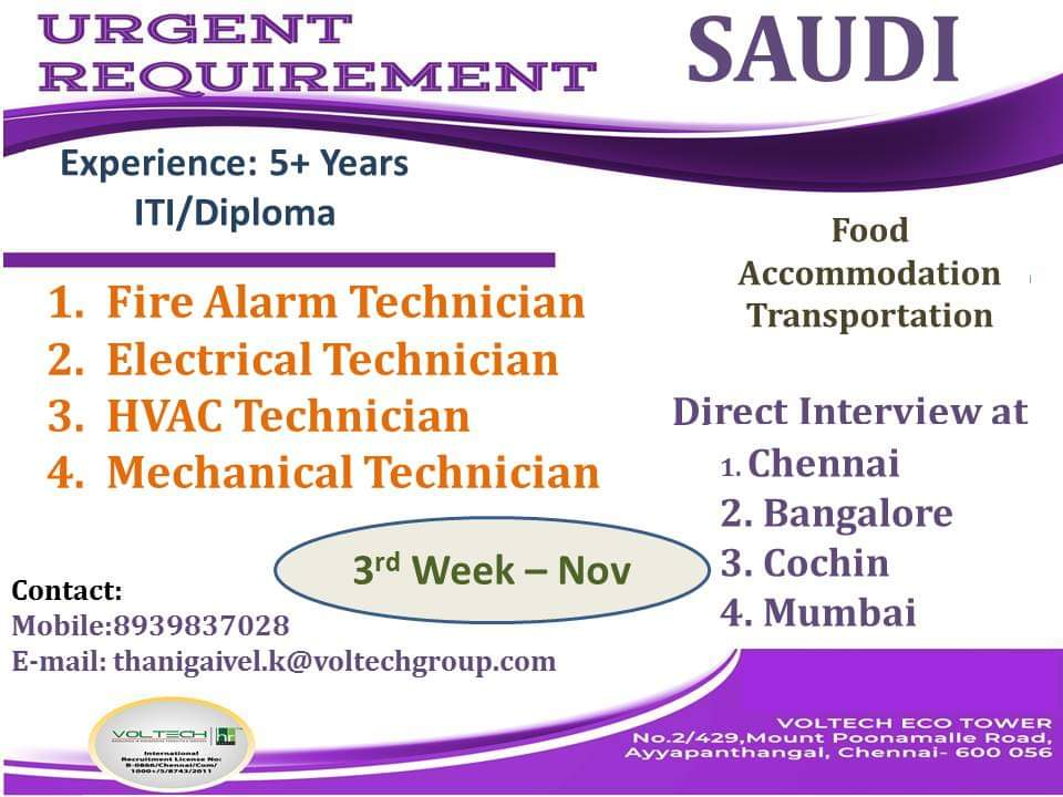 JOB OPENINGS IN SAUDI