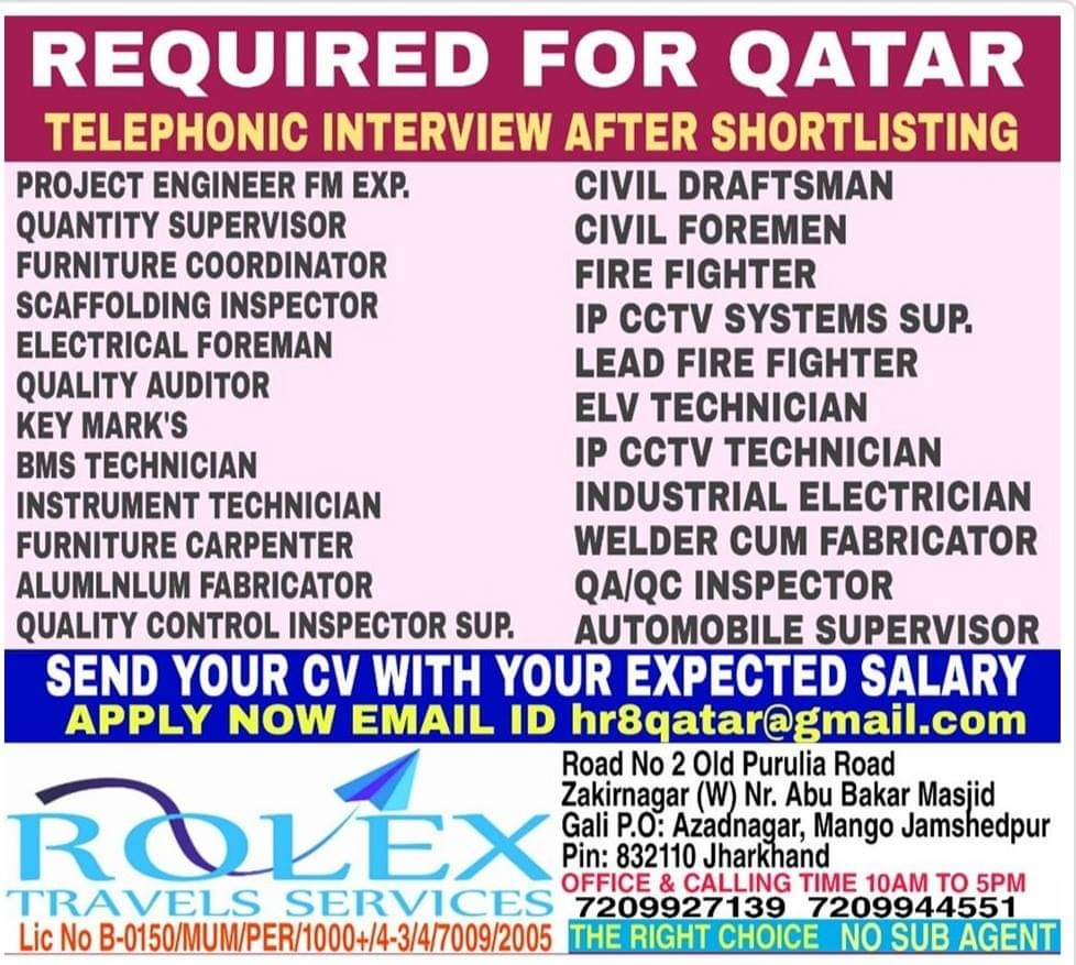 JOB OPPORTUNITIES IN QATAR