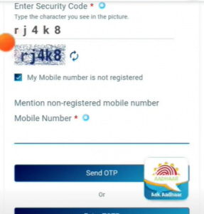 Give Mobile number