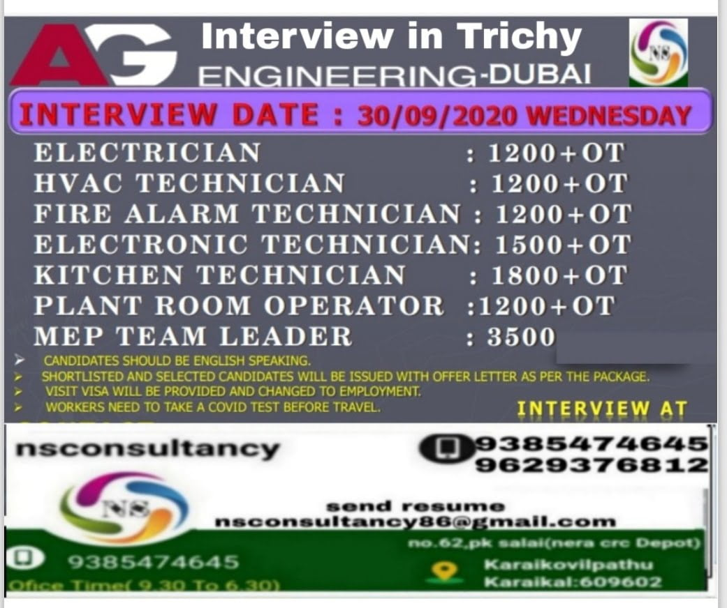 URGENTLY REQUIRED AT DUBAI-ENGINEERING