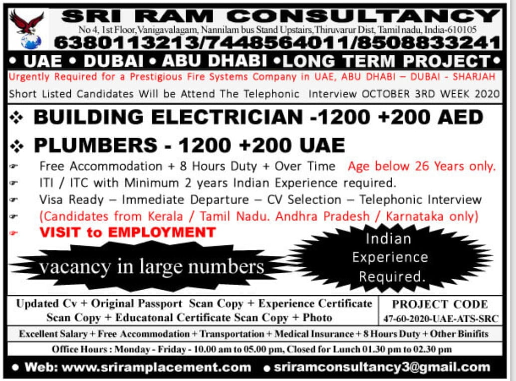URGENTLY REQUIRED FOR PRESTIGIOUS FIRE SYSTEMS CO.