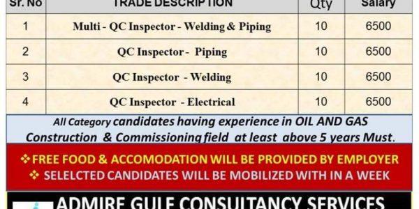 OIL & GAS CONSTRUCTION & COMMISSIONING PLANT – UAE SHUT DOWN