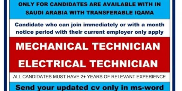 REQUIRED AT SAUDI ARABIA FOR SPANISH CO.