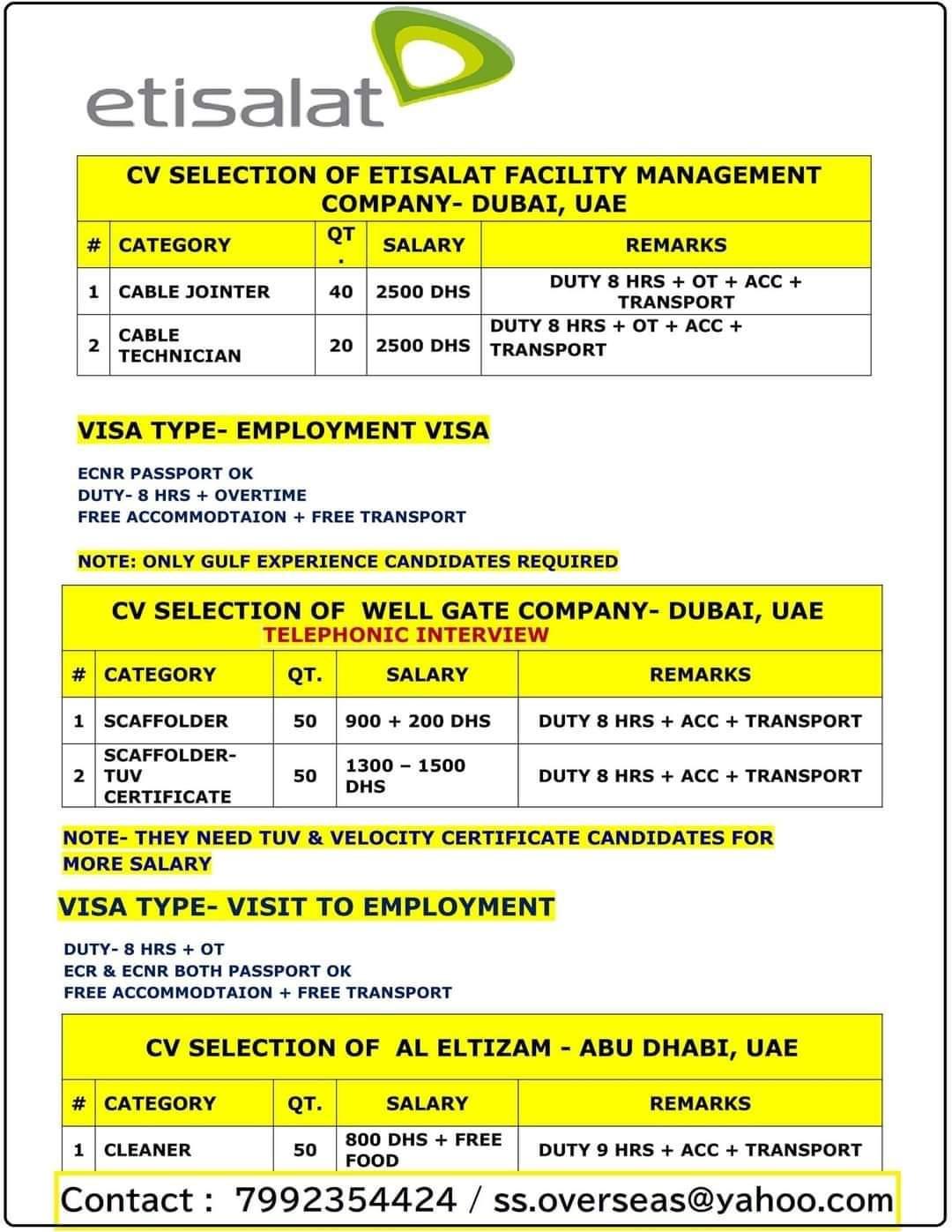ETISALAT FACILITY MANAGEMENT COMPANY- DUBAI, UAE