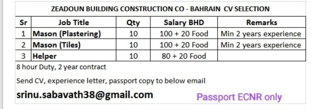 ZEADOUN BUILDING CONSTRUCTION CO – BAHRAIN