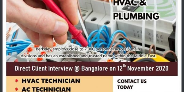 Gulf Jobs Interview in Bangalore 2020