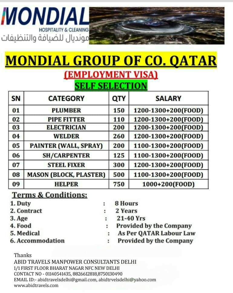 MONDIAL GROUP OF CO. QATAR