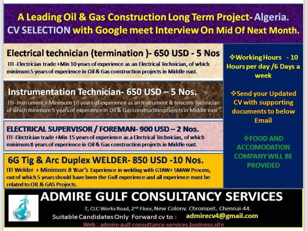 OIL & GAS CONSTRUCTION PROJECT-ALGERIA
