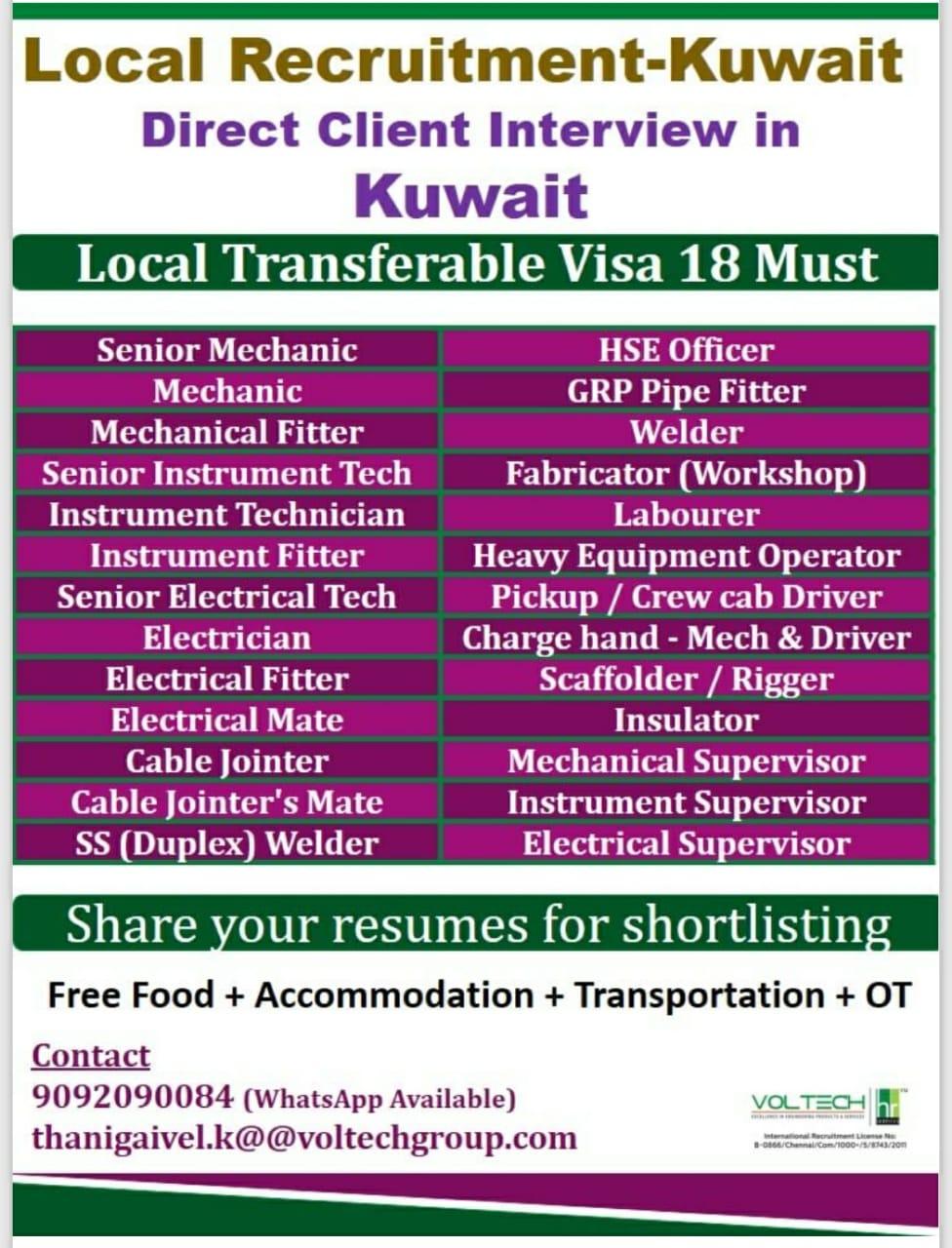 Local Recruitment-Kuwait