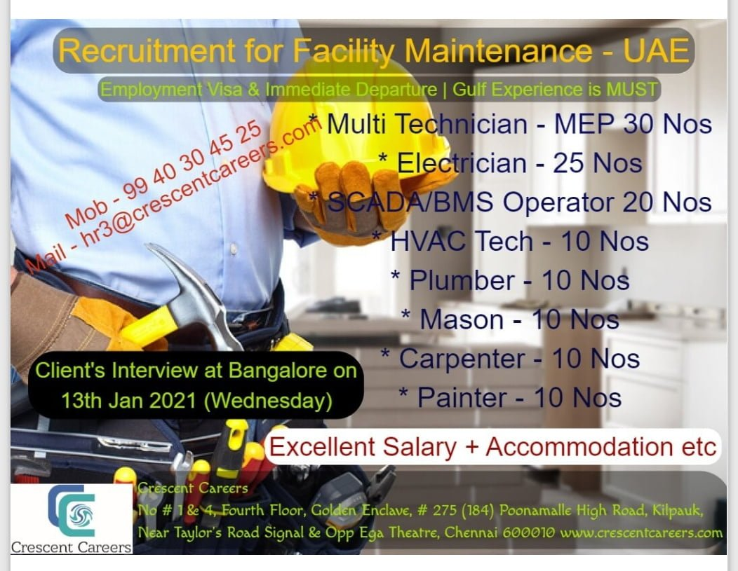 REQUIREMENT FOR FACILITY MANAGEMENT IN UAE