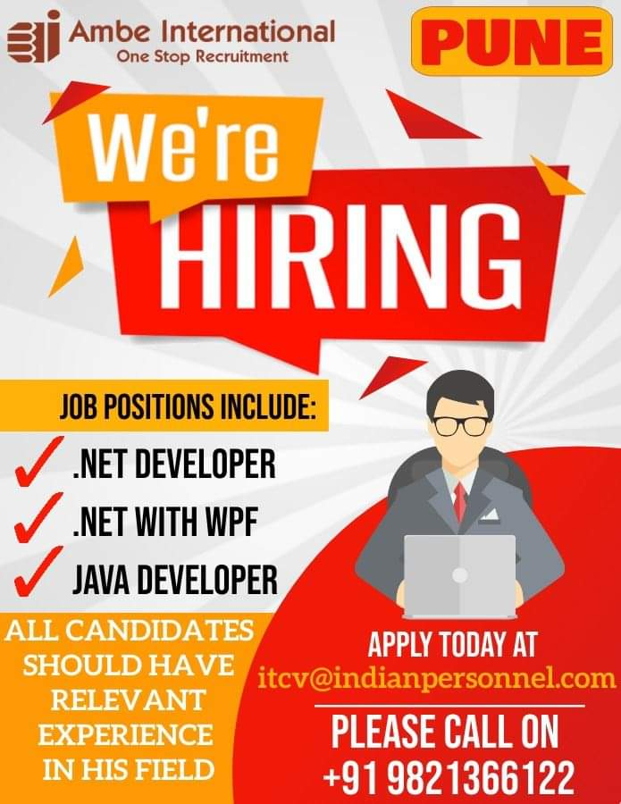 URGENTLY REQUIRED FOR PUNE