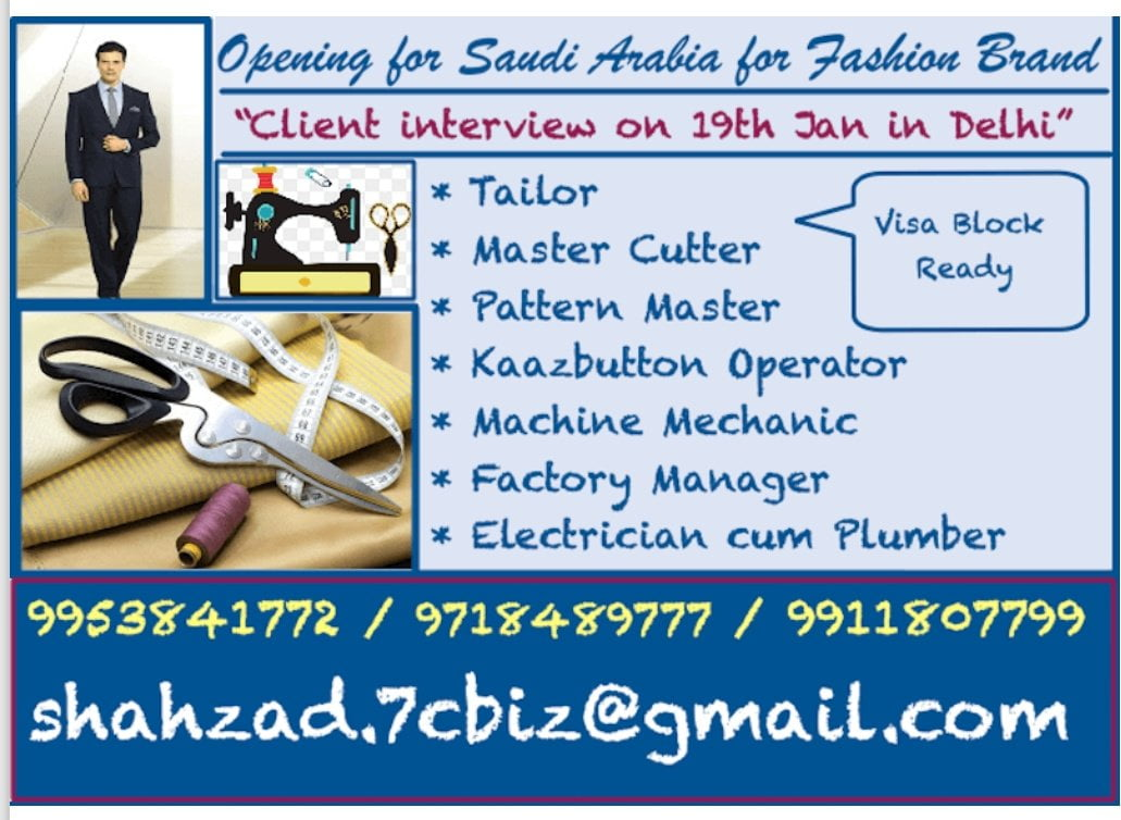 Opening for Saudi Arabia for Fashion Brand