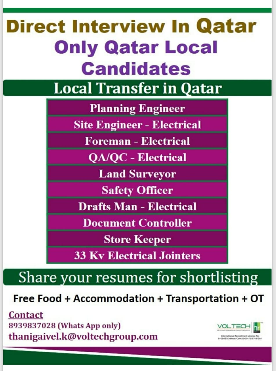 JOBS IN QATAR FOR QATAR LOCAL CANDIDATES