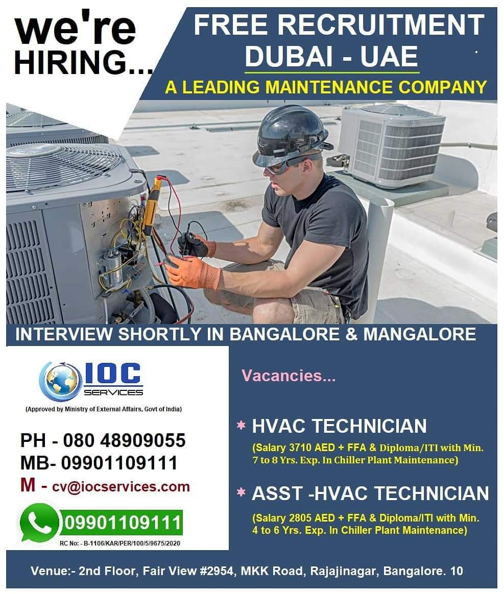 DUBAI – UAE A MAINTENANCE COMPANY