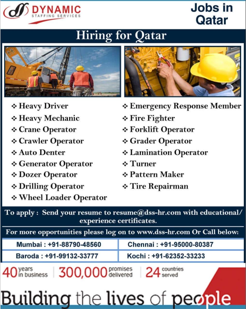 HIRING FOR QATAR