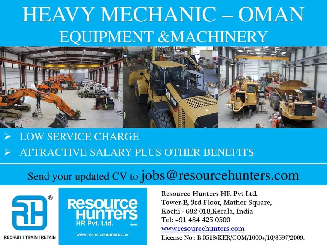 HEAVY MECHANIC – OMAN EQUIPMENT &MACHINERY