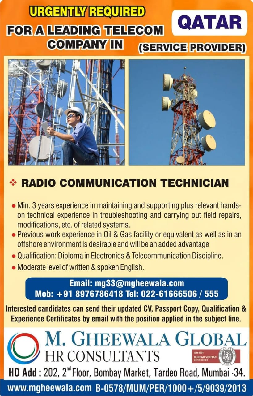 URGENT REQUIREMENT FOR A LEADING TELECOM COMPANY IN OMAN