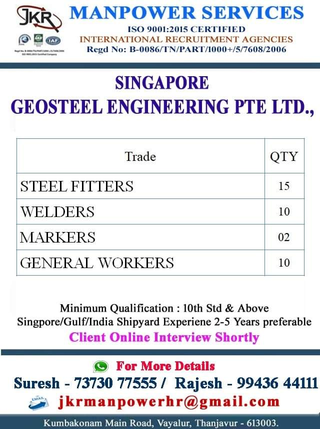 SINGAPORE  GEOSTEEL ENGINEERING PTE LTD.,