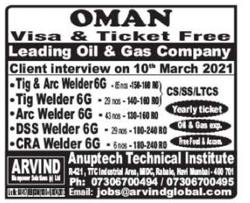 REQUIRED FOR A LEADING COMPANY-OMAN