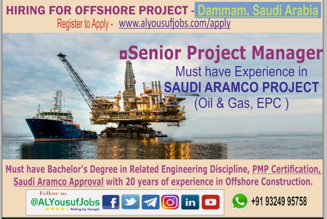 HIRING FOR OFFSHORE PROJECT IN SAUDI ARABIA