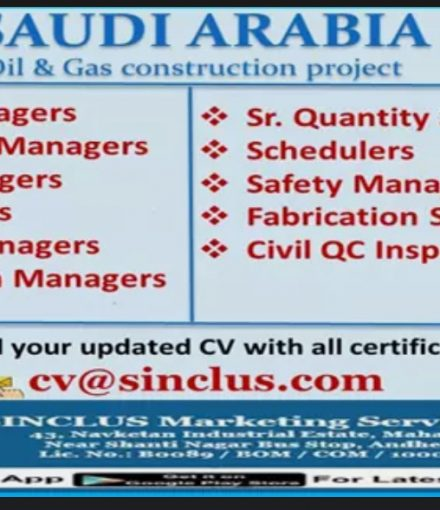 REQUIREMENT FOR OIL AND GAS CONSTRUCTION PROJECT