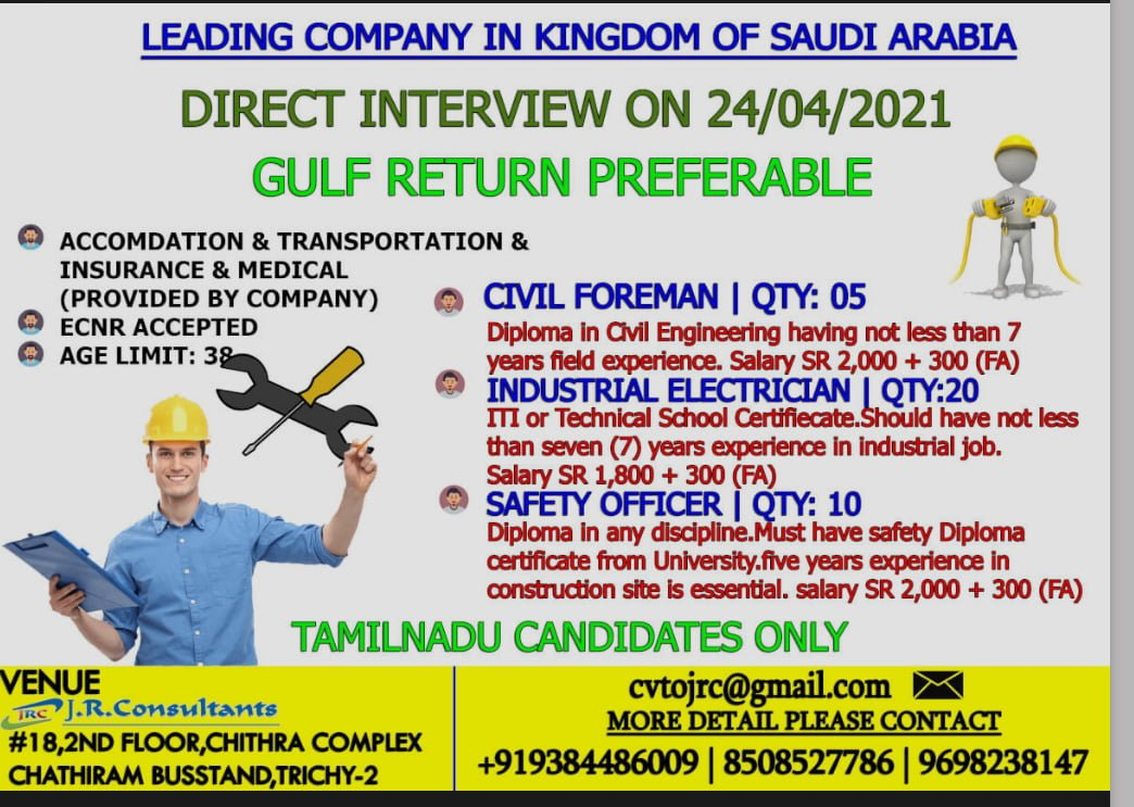 REQUIREMENT FOR LEADING COMPANY IN KINGDOM OF SAUDI ARABIA