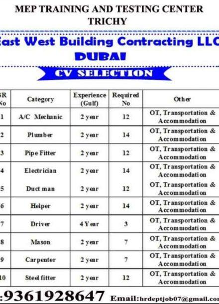 EAST WEST BUILDING CONTRACTING LLC  DUBAI