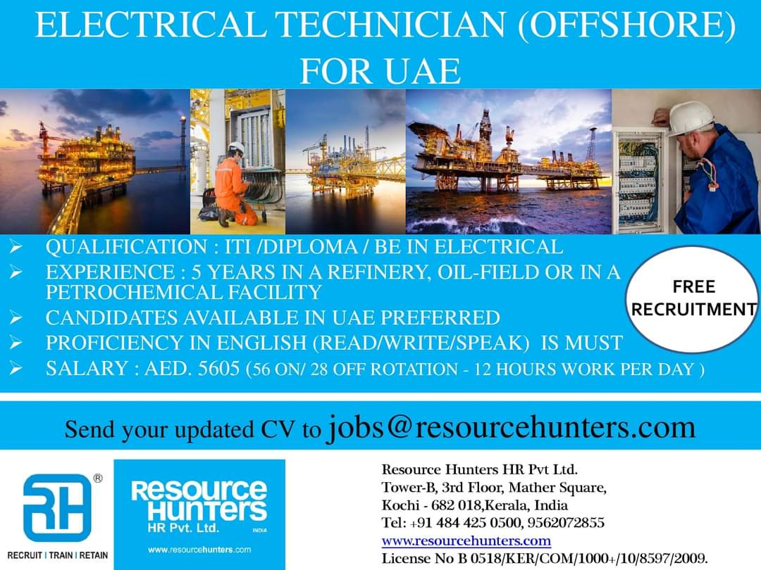 ELECTRICAL TECHNICIAN (OFFSHORE) FOR UAE