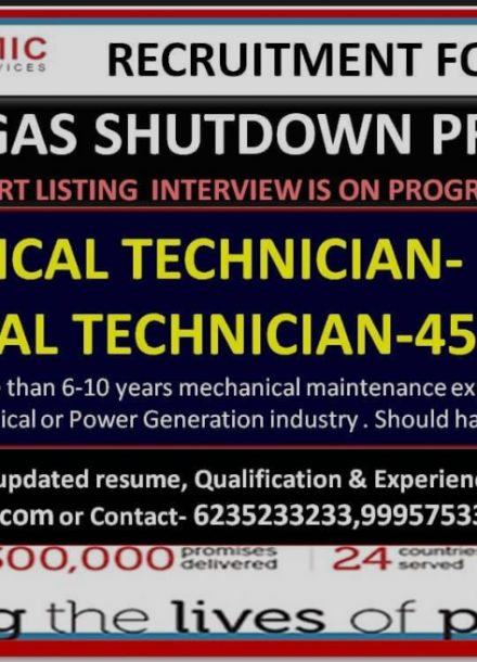 REQUIREMENT FOR OIL AND GAS SHUTDOWN PROJECT
