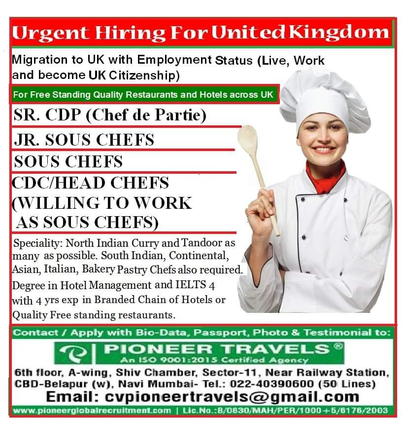 URGENT HIRING FOR UNITED KINGDOM