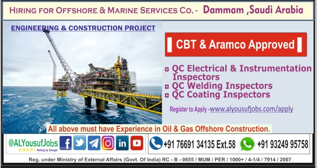 HIRING FOR OFFSHORE AND MARINE SERVICES COMPANY