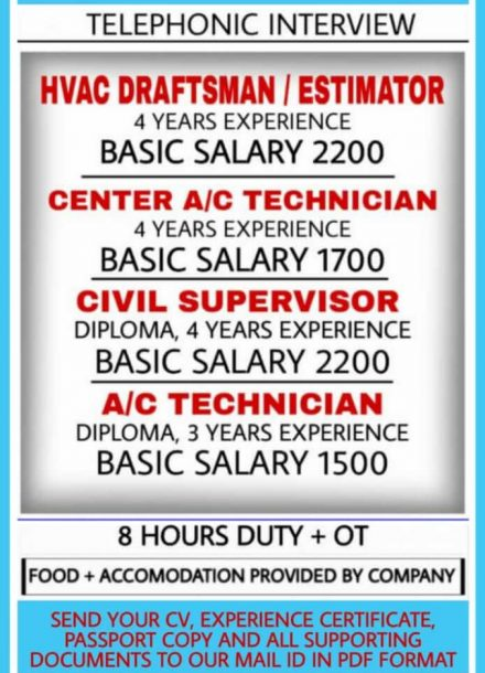 WALK IN INTERVIEW IN MUMBAI FOR A LEADING COMPANY IN QATAR